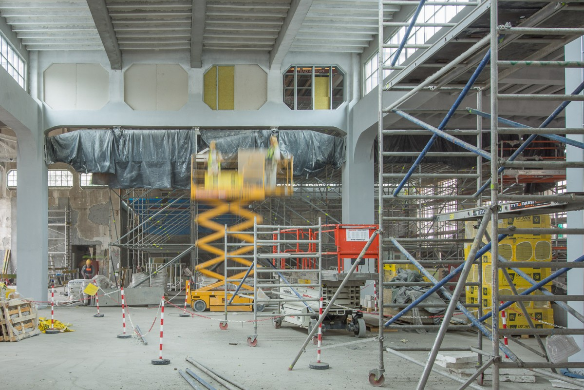 Modernization of the Nowy Teatr. Photos by Jakub Certowicz