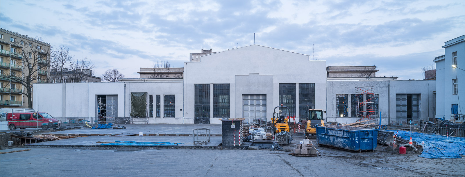Construction of Nowy Teatr ICC in February 2016